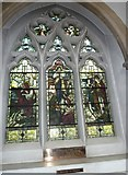 TQ1649 : St Martin, Dorking: stained glass window (C) by Basher Eyre