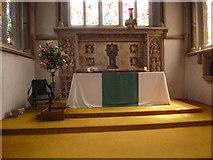 TQ1649 : St Martin, Dorking: altar (ii) by Basher Eyre