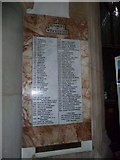 TQ1649 : St Martin, Dorking: incumbency lists (C) by Basher Eyre