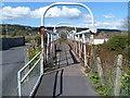 SN4300 : Rusty tubular footbridge, Ashburnham Road, Burry Port by Jaggery