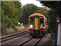 SO8005 : Train approaching Stonehouse station by Gareth James