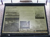 TQ3680 : Information Board, Narrow Street, Limehouse, London by Christine Matthews