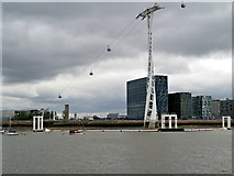 TQ3979 : Emirates Airline Cable Car, North Greenwich by David Dixon