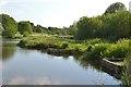 SP2965 : Wheelchair-safe fishing pegs, Kingfisher Pool, Myton Fields by Robin Stott