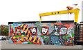J3574 : Youth Club mural, Ballymacarrett, Belfast by Albert Bridge