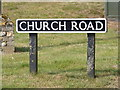 TG2902 : Church Road sign by Adrian Cable