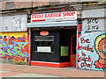 "J3374 : Former ""Tivoli"" barber's shop, Belfast (1) by Albert Bridge"