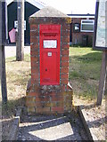 TG2902 : Village Hall Victorian Postbox by Adrian Cable