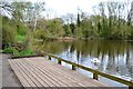 SP0666 : Ipsley Pool with deck, Ipsley, Redditch by Robin Stott