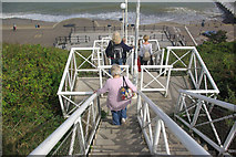 TG2142 : Steps to the beach at Cromer by Stephen McKay