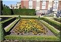 TQ0451 : Flowerbed near Clandon Park House by Paul Gillett