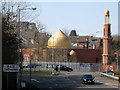 SP0466 : Redditch mosque behind security fencing, Smallwood, Redditch by Robin Stott