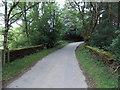 SO2073 : Road bridge over a stream near Llancoch by Jaggery
