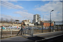 SP8633 : Works by Bletchley Station by N Chadwick