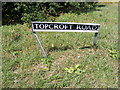 TM2890 : Topcroft Road sign by Adrian Cable