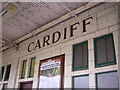 ST1875 : Cardiff Central / Caerdydd Canalog Station: Great Western lettering by Christopher Hilton