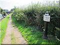 SJ7559 : Canal milepost near Wheelock by Stephen Craven