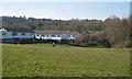 SP0466 : Terraced housing adjoining open space, Lodge Park, Redditch by Robin Stott