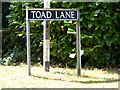 TM3394 : Toad Lane sign by Adrian Cable