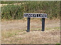 TM3491 : Tunneys Lane sign by Adrian Cable