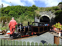 SC4384 : A Laxey Mines Train arrives at the terminus by Richard Hoare