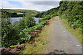 SN9067 : Cycle track beside the Penygarreg Reservoir by Philip Halling