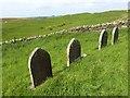 NY9578 : Gravestones at Thockrington Church by Oliver Dixon