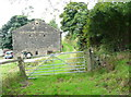 SE0126 : Gate on Hebden Royd FP34 at Old Castle Farm by Humphrey Bolton