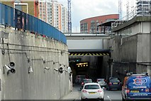 TQ3880 : A102 Northern Approach to the Blackwall Tunnel by David Dixon