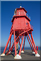 NZ3668 : Herd Groyne Directional Light by David P Howard