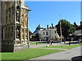 TR1557 : Canterbury Cathedral Close with Lodge by David Hawgood