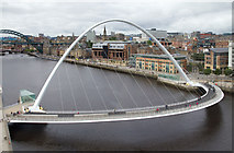 NZ2563 : Gateshead Millennium Bridge by David P Howard