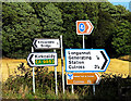 NS9486 : Roadsigns near Longannet by William Starkey