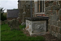 TF3579 : Skull outside the Church of St. Michael, Burwell by Chris