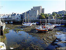 SC2667 : Castletown Harbour at low water by Richard Hoare