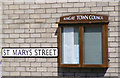 TM3389 : St.Marys Street sign & Bungay Notice Board by Adrian Cable