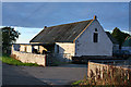 NS8066 : Easter Moffat Farm by Anne Burgess