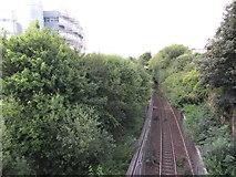 NZ2564 : Tyne & Wear Metro: Manors Spur by Gareth James