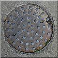 ST5038 : Manhole cover, Glastonbury by Rossographer