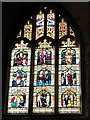 NY9393 : St. Cuthbert's Church, Elsdon - stained glass window by Mike Quinn