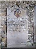 NY9393 : St. Cuthbert's Church, Elsdon - 18th C memorial by Mike Quinn