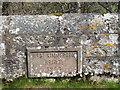 NT9535 : West Kimmerston bridge datestone by Stephen Craven