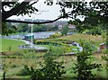 NZ2165 : Sports courts and picnic area, Stocksfield Avenue Primary School by Barbara Carr