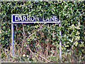 TM0982 : Darrow Lane sign by Adrian Cable