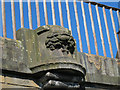 NT2472 : Stone carving on a canal bridge by Stephen Craven