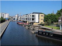NT2472 : Union Canal - Fountainbridge moorings by Stephen Craven