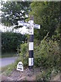 TM0783 : Roadsign on Kenninghall Road by Adrian Cable
