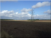 SK7060 : Farmland and pylons by JThomas