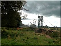 SK1133 : Iron Footbridge near Doveridge by Jonathan Clitheroe