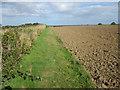 NU2423 : Footpath alongside arable field, near Newton Pool Nature Reserve by Graham Robson